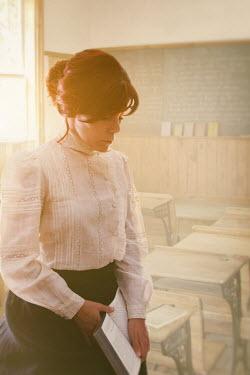 Sandra Cunningham HISTORICAL FEMALE SCHOOLTEACHER IN CLASSROOM Women