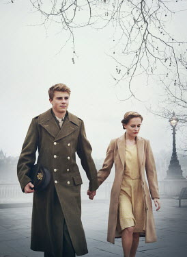Mark Owen WARTIME COUPLE HOLDING HANDS IN WINTRY LONDON Couples