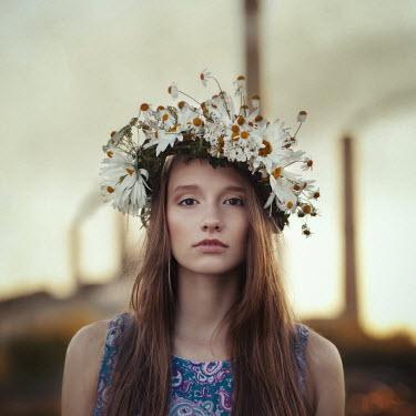 Alexander Kuzovkov GIRL WITH GARLAND OF FLOWERS ON HEAD Women