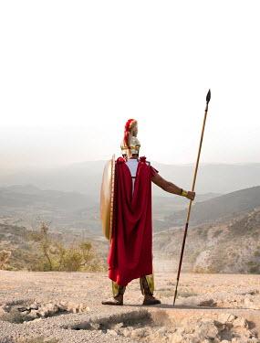 Stephen Mulcahey GREEK WARRIOR WITH SPEAR WATCHING LANDSCAPE Men