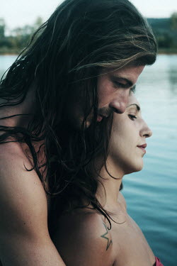 Giovan Battista D'Achille INTIMATE COUPLE BY TRANQUIL WATER Couples