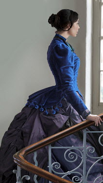 Lee Avison victorian woman walking upstairs Women