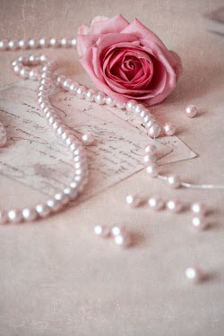 Galya Ivanova ROSE AND PEARLS ON HANDWRITTEN POSTCARDS Miscellaneous Objects