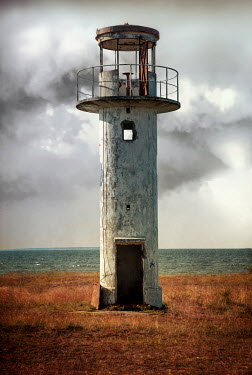 Jaroslaw Blaminsky DERELICT LIGHTHOUSE BESIDE CLOUDY SEA Miscellaneous Buildings