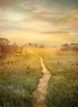 Drunaa path through country Village houses Paths/Tracks