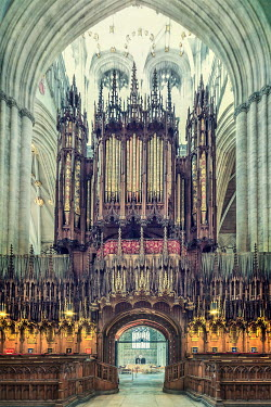 Evelina Kremsdorf LARGE PIPE ORGAN INSIDE GRAND CATHEDRAL Religious Buildings