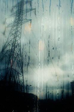 Nicola Smith RAINY WINDOW BELOW ELECTRICITY PYLON Miscellaneous Objects