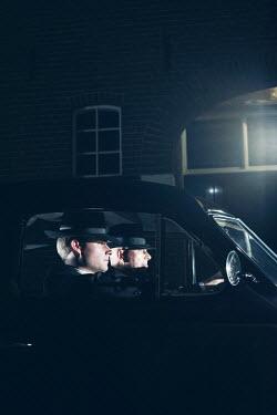 Ysbrand Cosijn TWO RETRO MEN IN CAR AT NIGHT Men
