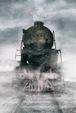 Jaroslaw Blaminsky HISTORICAL STEAM TRAIN IN SNOW Railways/Trains