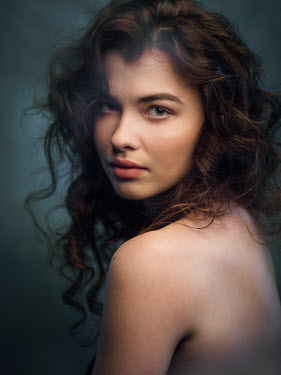Michal Zahornacky HEAD AND SHOULDERS OF SULTRY BRUNETTE WOMAN Women