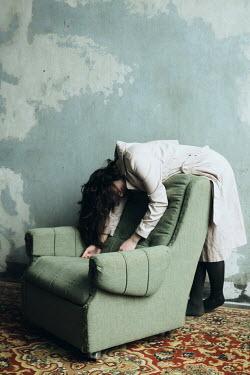 Alina Zhidovinova DEAD GIRL LYING OVER CHAIR Women