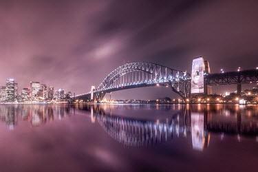 Evelina Kremsdorf SYDNEY HARBOUR BRIDGE AT NIGHT Bridges