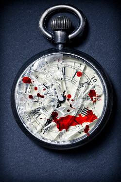 Valentino Sani BROKEN POCKET WATCH COVERED IN BLOOD Miscellaneous Objects