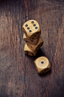 Valentino Sani FIVE WOODEN DICE Miscellaneous Objects