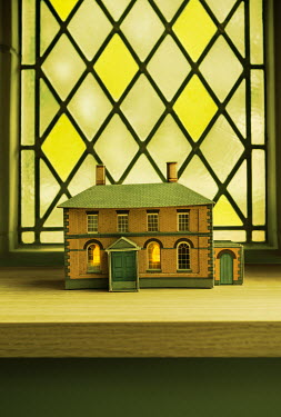 Stephen Mulcahey miniature model house on window ledge Miscellaneous Objects