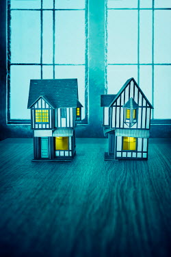 Stephen Mulcahey two mock tudor model miniature houses Miscellaneous Objects