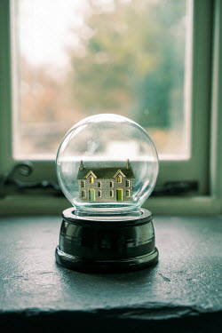 Stephen Mulcahey a miniature house on a window ledge Miscellaneous Objects