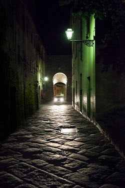 Yolande de Kort HISTORICAL ALLEYWAY AT NIGHT Streets/Alleys