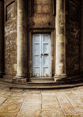 Victor Habbick DOOR IN HISTORICAL CURVED STONE BUILDING Miscellaneous Buildings