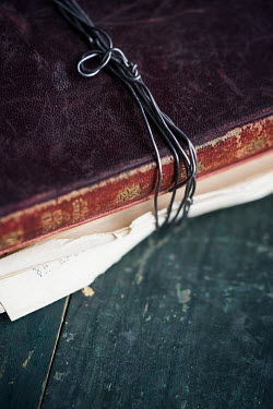 Jill Ferry OLD LEATHER BOOK TIED WITH WIRE Miscellaneous Objects