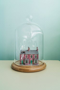 Stephen Mulcahey MODEL HOUSES IN GLASS DOME Miscellaneous Objects