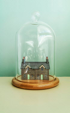 Stephen Mulcahey MODEL HOUSES INSIDE GLASS DOME Miscellaneous Objects