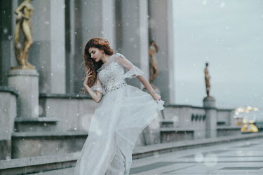 Jovana Rikalo WOMAN IN WHITE GOWN BY PALACE Women