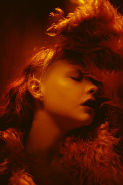 Chad Michael Ward PASSIONATE WOMAN IN FUR WITH RED LIGHT Women