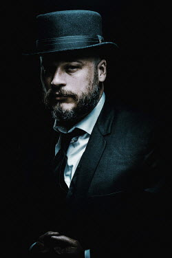 Chad Michael Ward MAN WITH BEARD IN HAT AND SUIT Men