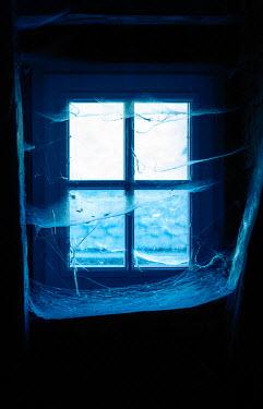 Ebru Sidar SPOOKY WINDOW WITH COBWEBS INDOORS Building Detail