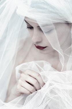 Ebru Sidar SAD WOMAN IN WHITE VEIL Women