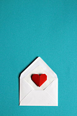 Jasenka Arbanas RED PAPER HEART IN WHITE ENVELOPE Miscellaneous Objects