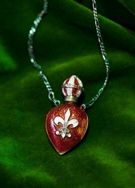 Jaroslaw Blaminsky RED NECKLACE ON GREEN VELVET Miscellaneous Objects