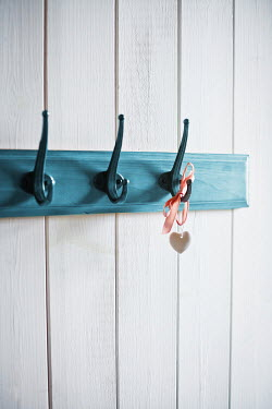 Ildiko Neer WHITE HEART ON RIBBON HANGING ON HOOK Miscellaneous Objects