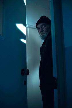 Ysbrand Cosijn SINISTER MAN WAITING IN DOORWAY AT NIGHT Old People