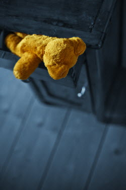 Ildiko Neer TEDDY BEAR IN DRAWER FROM ABOVE Miscellaneous Objects