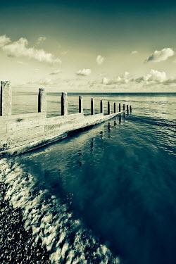 Tony Watson TRANQUIL SEA WITH GROYNE Seascapes/Beaches