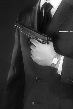Ysbrand Cosijn ELEGANT MAN IN SUIT WITH GUN Men