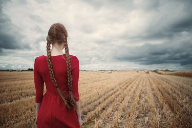 Magdalena Russocka GIRL WITH PLAITS IN WHEAT FIELD Women