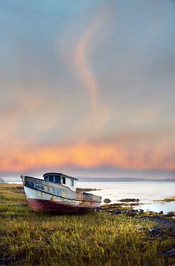 Jill Battaglia Rusty boat on the coast of Maine. Seascapes/Beaches