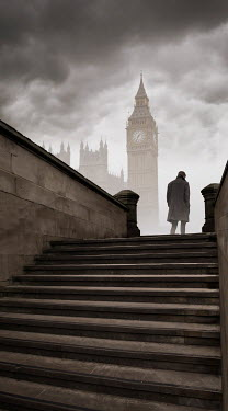 James Wragg MAN WALKING UP STEPS IN LONDON Men