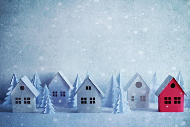 Jasenka Arbanas PAPER HOUSES AND TREES WITH SNOW Miscellaneous Objects