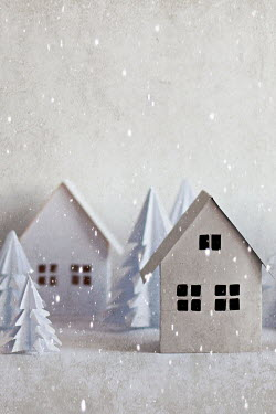 Jasenka Arbanas PAPER HOUSES WITH TREES AND SNOW Miscellaneous Objects