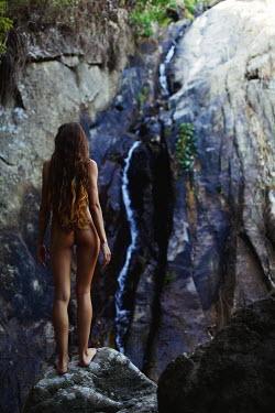 Ilona Shevchishina NAKED GIRL STANDING BY WATERFALL Women