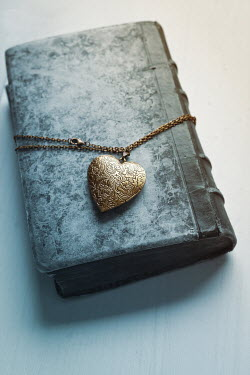 Ildiko Neer Gold locket on closed book Miscellaneous Objects