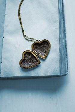 Ildiko Neer open heart shaped locket on book Miscellaneous Objects