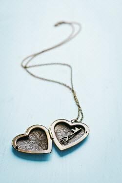 Ildiko Neer Gold heart shaped locket with key Miscellaneous Objects