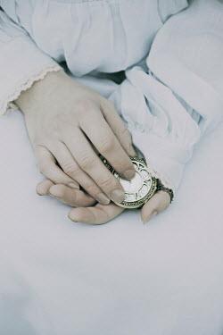 Giovan Battista D'Achille WOMANS HANDS HOLDING POCKET WATCH Body Detail