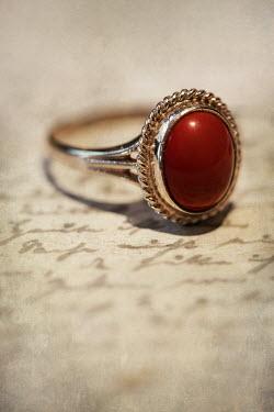 Jaroslaw Blaminsky RED RING LYING ON LETTER Miscellaneous Objects