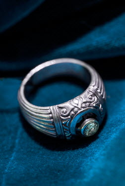 Jaroslaw Blaminsky CLOSE UP OF SILVER RING WITH DIAMOND Miscellaneous Objects